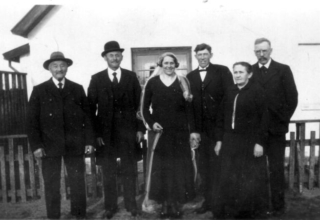 Bette Ras., bedstefar Henrik, faster Anna & Jens Peter, hans mor og far