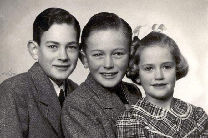 Hans Henrik, Knud & Kirsten (Kitte) i 1955